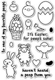 Poppy Stamps To All My Peeps clear stamps & thin metal dies, Made in USA