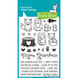 Lawn Fawn clear acrylic stamp set & metal dies - Mom + Me , Made in USA