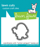 Lawn Fawn clear acrylic stamp set & metal dies - Winter Penguin, Made in USA