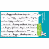 Lawn Fawn clear acrylic stamp set - Celebration Scripty Sayings , Made in USA