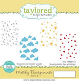 Taylored Expressions cling rubber stamps - Matchy Backgrounds, Made in USA