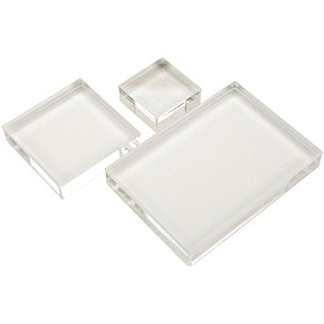 Acrylic Stamping Block Kit, set of 3
