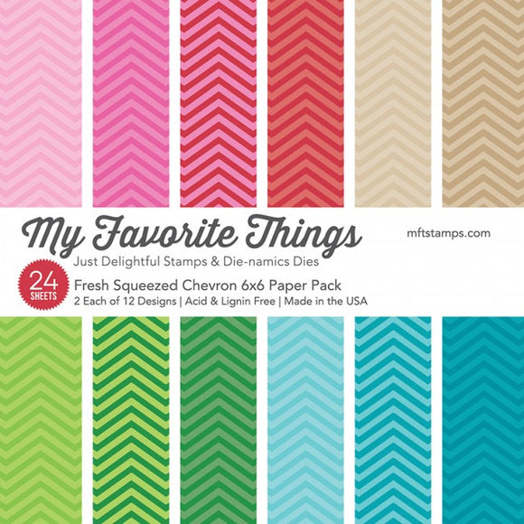 My Favorite Things 6x6 paper pad- Fresh Squeezed Chevron