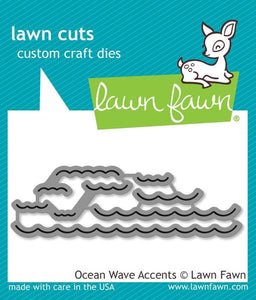 Lawn Fawn thin metal dies - Ocean Wave Accents , Made in USA
