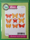 Impression Obsession Small Butterflies thin metal die, Made in USA