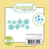 Taylored Expressions thin metal die - Snowflake Confetti, Made in USA