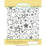 Taylored Expressions cling rubber stamps - Brushed Star Background, Made in USA
