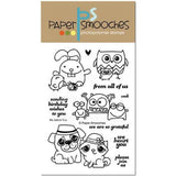 Paper Smooches clear acrylic stamps & thin metal dies - We Adore You, Made in USA