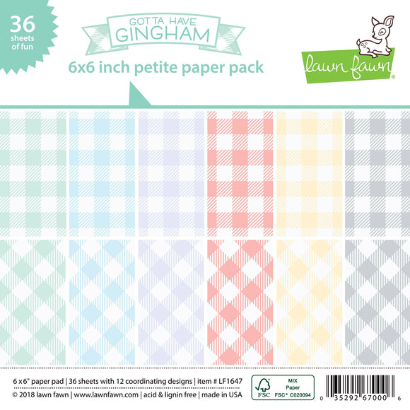 Lawn Fawn Gotta Have Gingham 6x6 paper pad