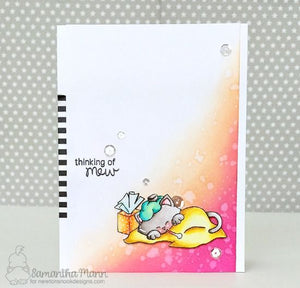 Newton's Nook clear acrylic stamp set & metal dies - Newton's Sick Day, Made in USA
