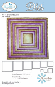 Elizabeth Crafts thin metal dies - Stitched Squares