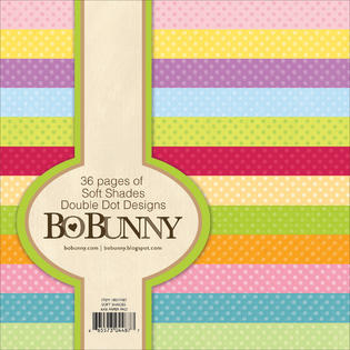 Bo Bunny Double Dot 6x6 paper pad - soft shades