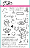 Heffy Doodle clear acrylic stamps & thin metal dies - Lucky Friends, Made in USA