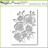 Memory Box English Rose Collage thin metal die, Made in USA