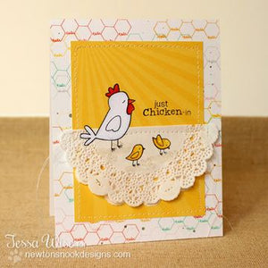 Newton's Nook clear acrylic stamp set - Chicken Scratches, Made in USA