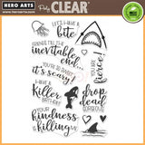 Hero Arts clear acrylic stamps-  Killer Messages, Made in USA