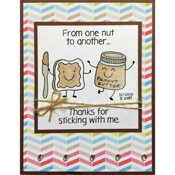 Inky Antics clear acrylic stamps & scratch and sniff stickers-  Peanut Butter, Made in USA