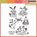 Penny Black Clear acrylic stamp set - Good Times