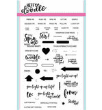 Heffy Doodle clear acrylic stamps - Interactively Yours, Made in USA