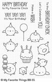 My Favorite Things clear acrylic stamps- Birthday Chicks, Made in USA