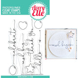 Avery Elle clear acrylic stamps & thin metal dies - Floating Wishes, Made in USA