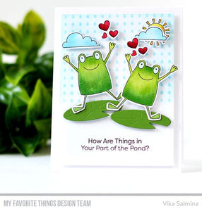 My Favorite Things clear acrylic stamps & thin metal dies- Toad-ally Awesome, Made in USA