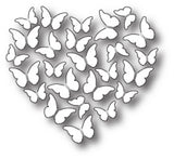Memory Box Butterfly Heart thin metal die, Made in USA