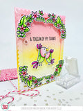 Avery Elle clear acrylic stamps & thin metal dies - Toucan Party, Made in USA
