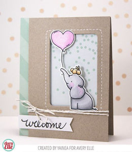 Avery Elle clear acrylic stamps - Ellie, Made in USA