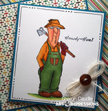 Art Impressions clear acrylic stamps - His & Her Gardeners