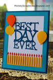 Impression Obsession Best Day Ever thin metal die, Made in USA