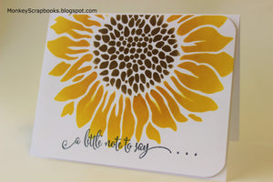 Crafter's Workshop 6x6 Stencil - Mini Joyful Sunflower, Made in USA