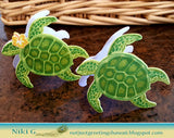 Hero Arts clear acrylic stamps & thin metal dies- Color Layering Sea Turtle, Made in USA