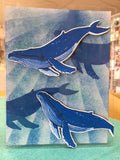 Hero Arts clear acrylic stamps & thin metal dies- Color Layering Blue Whale, Made in USA