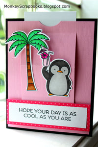 My Favorite Things clear acrylic stamps & metal dies- Penguins in Paradise, Made in USA
