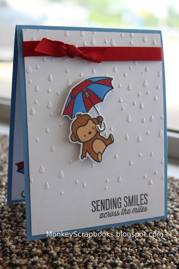 Taylored Expressions embossing folder - RAINDROPS
