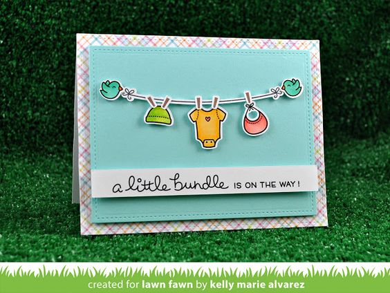 Lawn Fawn clear acrylic stamp set - Little Bundle , Made in USA