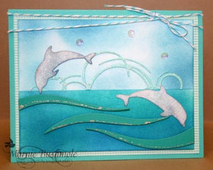Memory Box Diving Dolphins thin metal die, Made in USA
