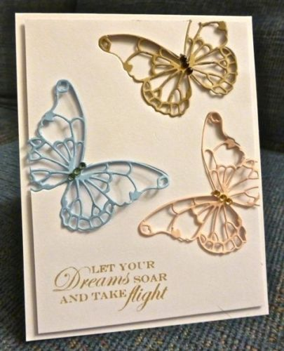Memory Box thin metal die - Vivienne Butterfly, Made in USA
