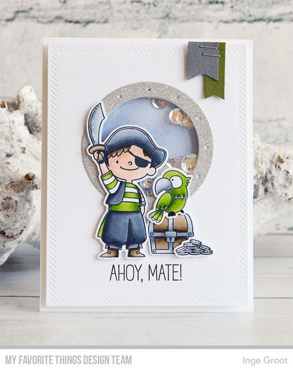 My Favorite Things clear acrylic stamps & thin metal dies- Party Like A Pirate, Made in USA