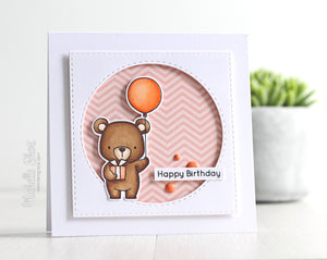 My Favorite Things clear acrylic stamps & metal dies -BEARY SPECIAL BIRTHDAY, made in USA