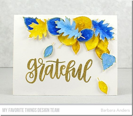 My Favorite Things clear acrylic stamps - Grateful, made in USA