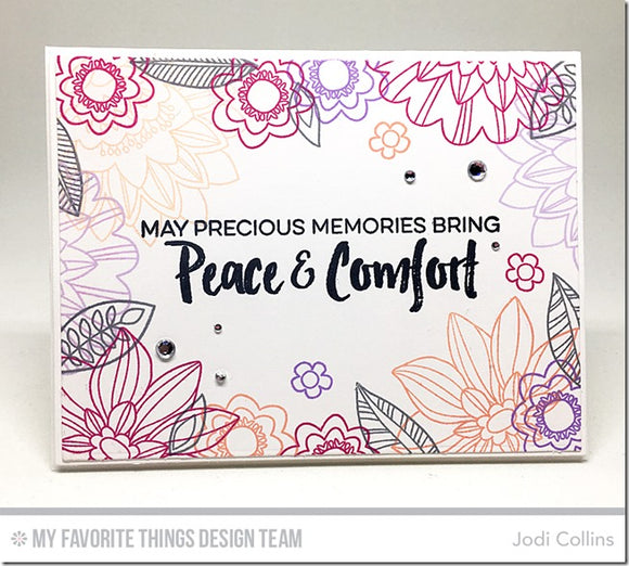 My Favorite Things clear acrylic stamps - Deepest Sympathy, made in USA