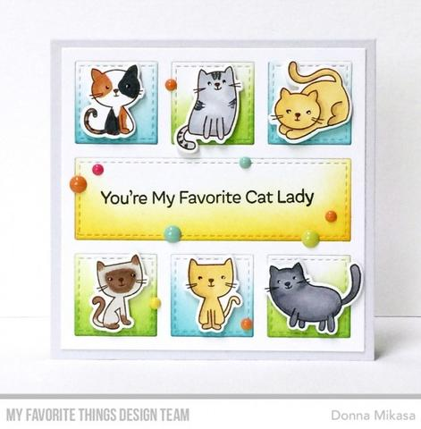 My Favorite Things clear acrylic stamps & metal dies- Love You Furever, Made in USA