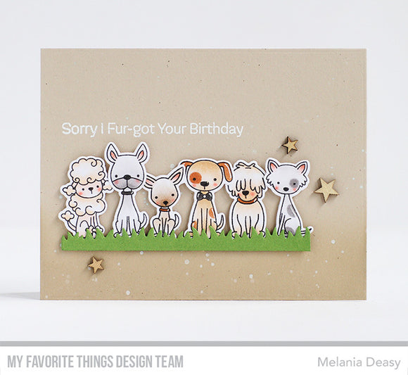 My Favorite Things clear acrylic stamps & metal dies- Puppy Kisses
