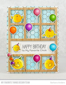 My Favorite Things clear acrylic stamps & metal dies- Birthday Chicks, Made in USA