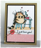 Penny Black clear acrylic stamp set - Furry Affection