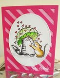 Penny Black clear acrylic stamp set - Hearts Aplenty