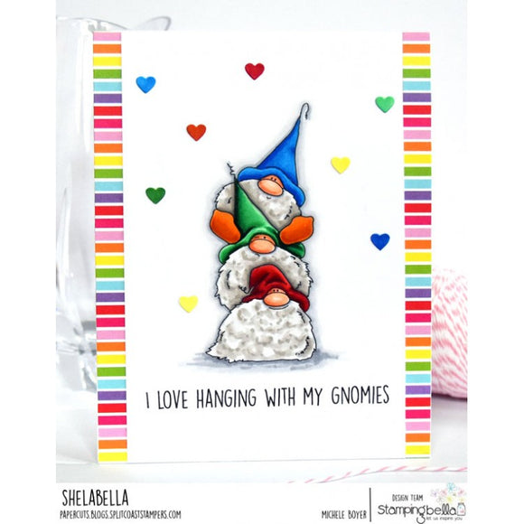 Stamping Bella cling mounted rubber stamps - Gnome Pile