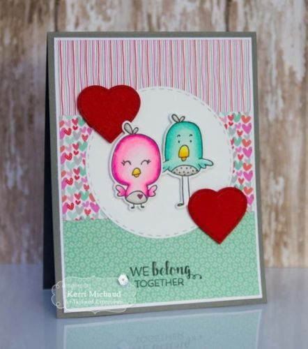 Taylored Expressions cling rubber stamps & thin metal dies - Birds & the Bees, Made in USA